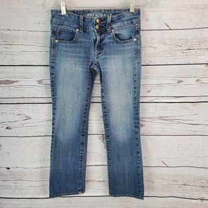 ❤AMERICAN EAGLE OUTFITTERS ARTIST CROP JEANS, 0